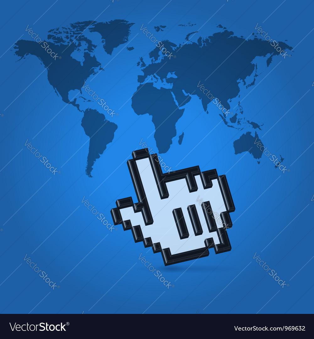 World click pointer vector