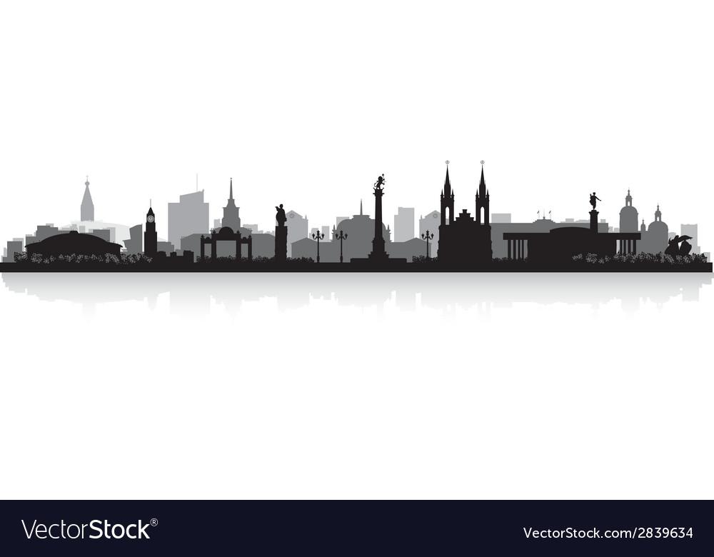 Krasnoyarsk russia city skyline silhouette vector
