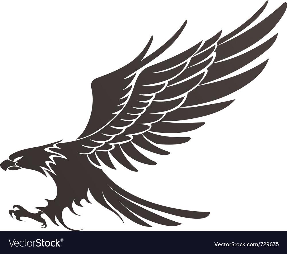 Coat-of-arms bird vector