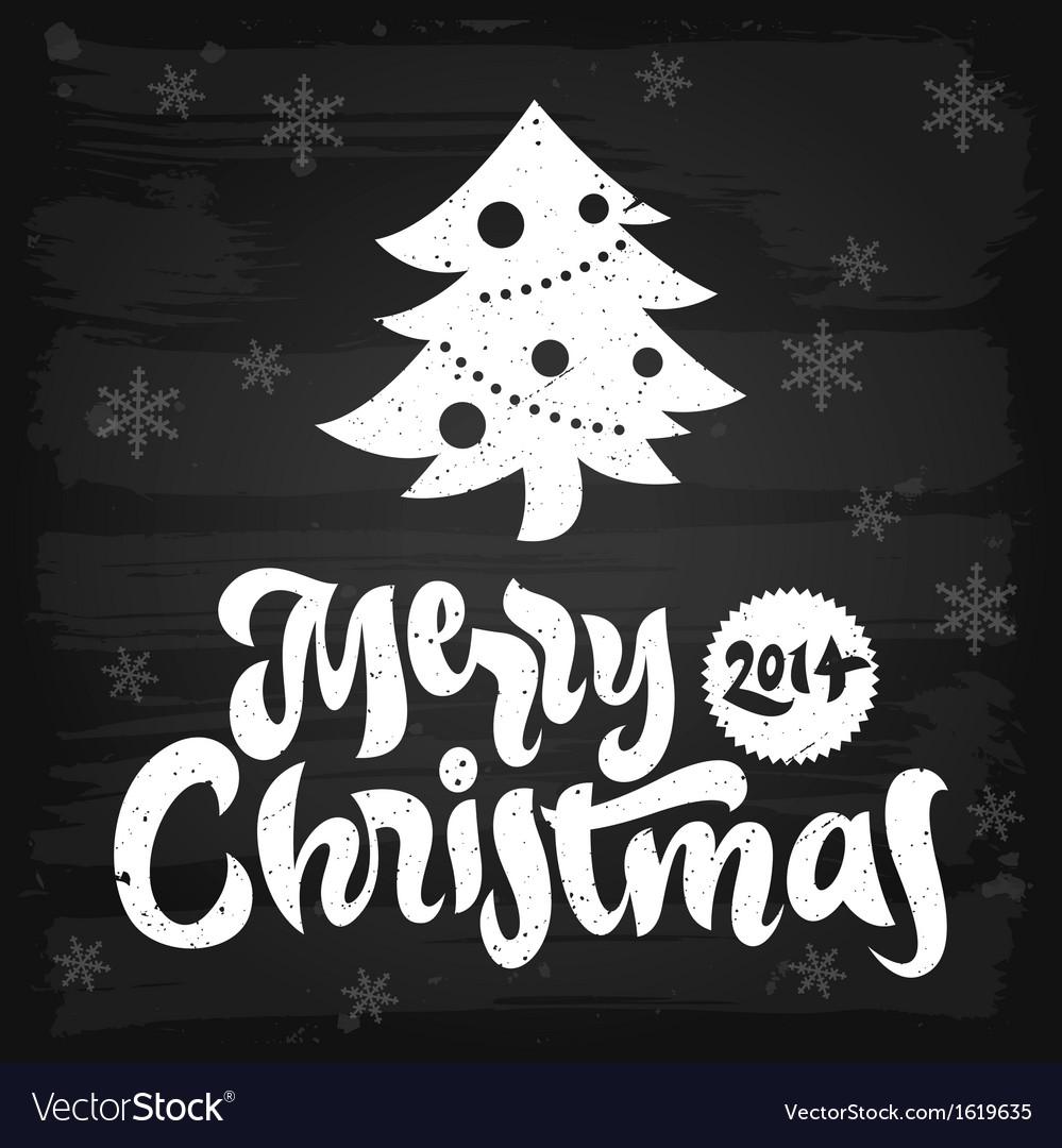 Merry christmas greetings chalkboard vector