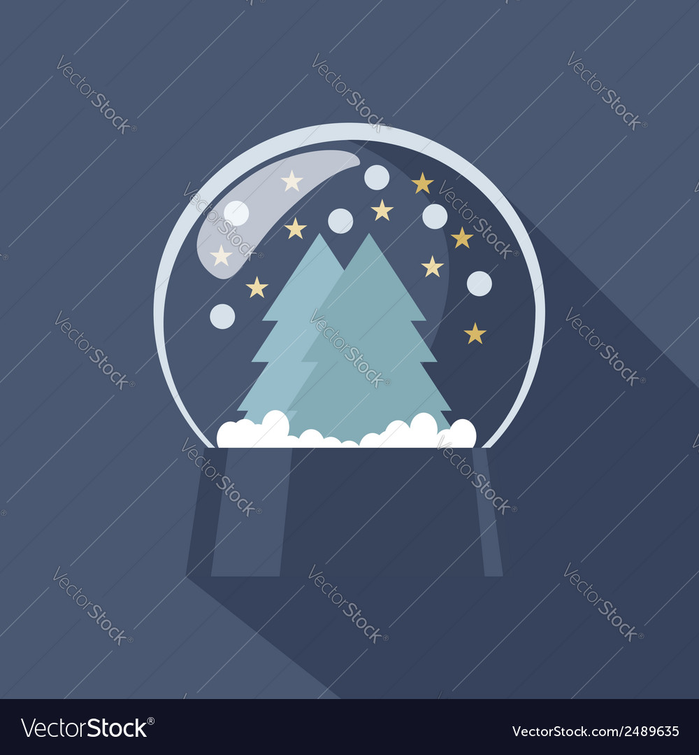 Snow globe icon vector