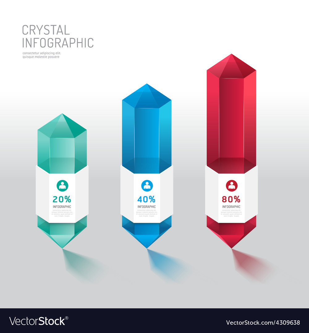 Modern infographics design crystal options banner vector