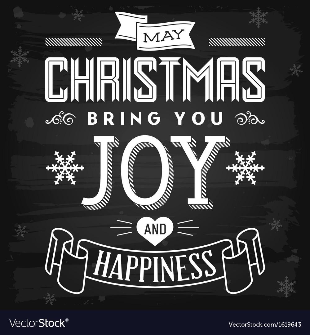 Christmas greetings chalkboard vector