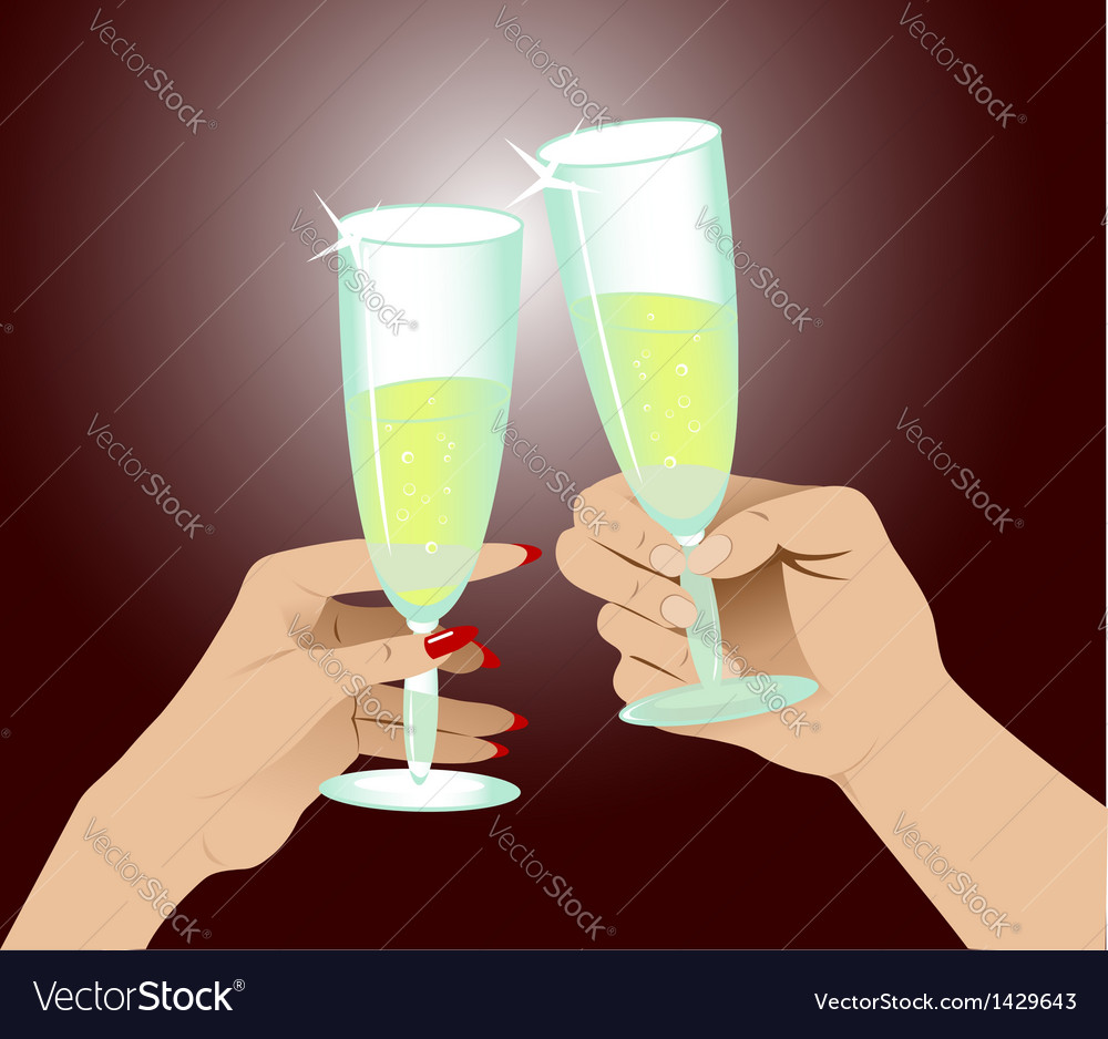 Hands with glasses vector