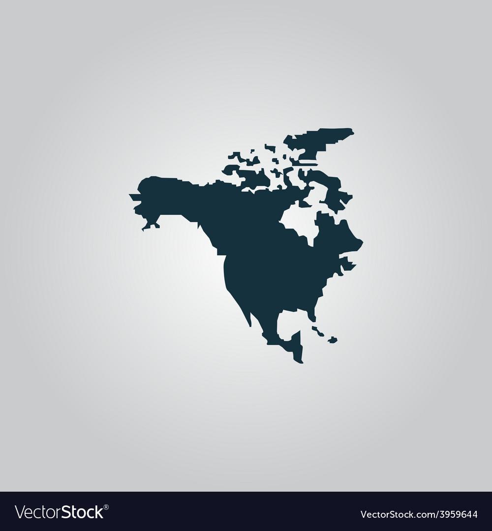 North america map vector