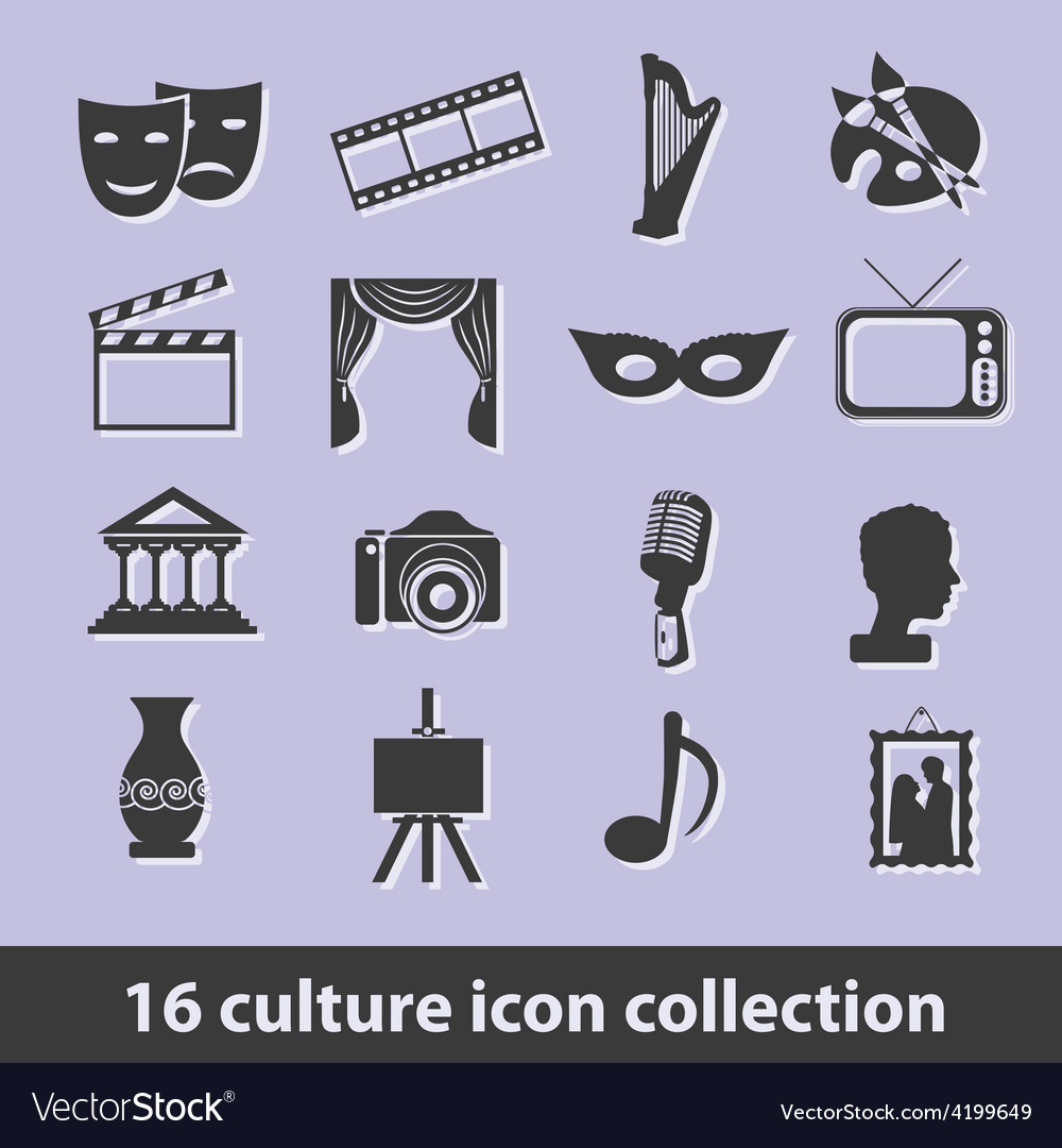 Culture icons vector