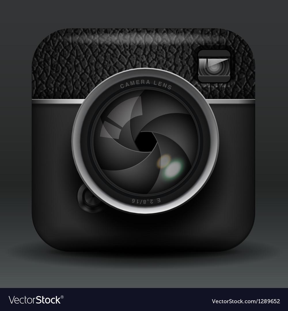 Professional photo camera icon vector