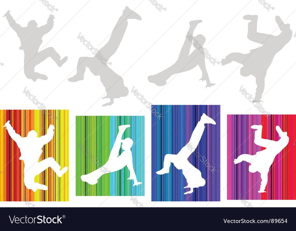 Break-dancers vector