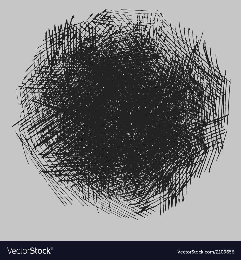 Rough hatching drawing texture vector