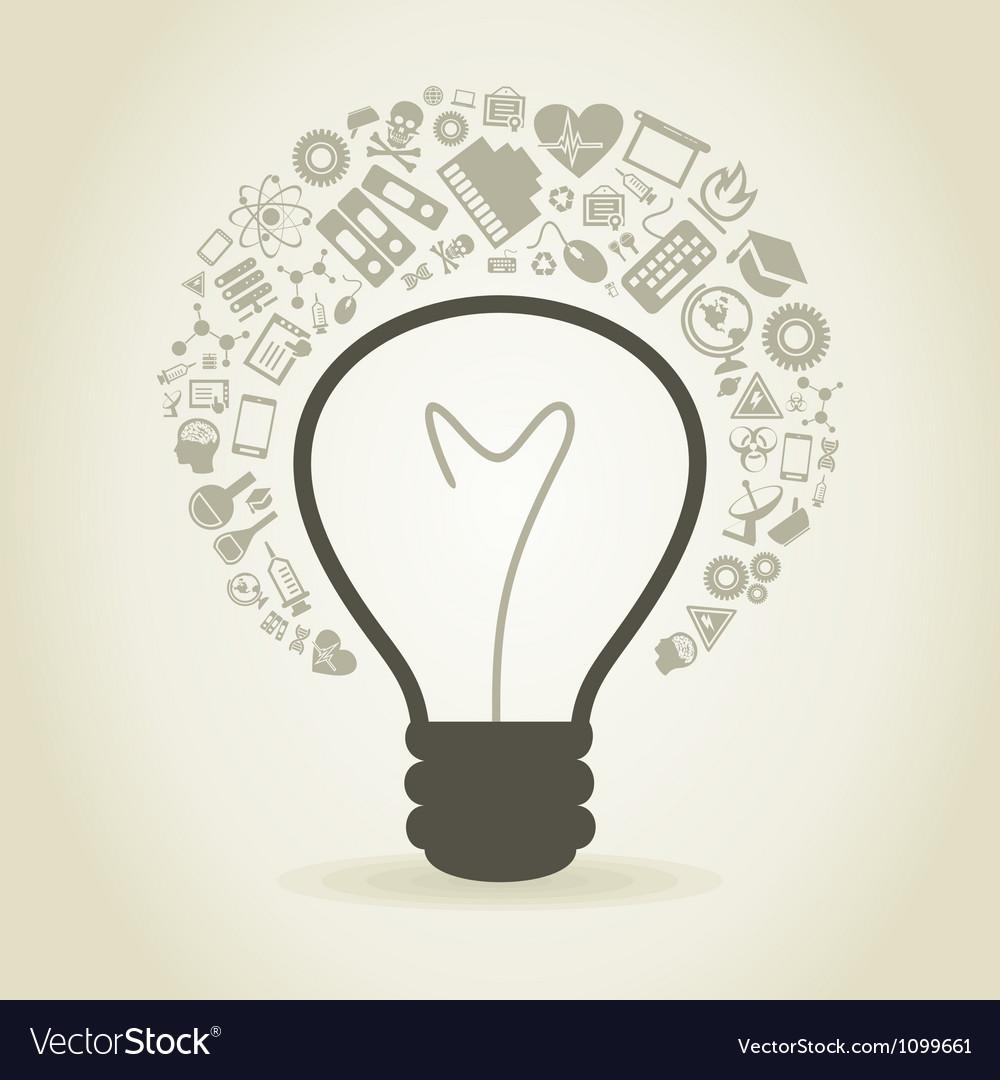 Bulb a science vector