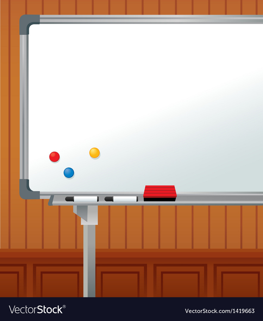 Whiteboard copyspace background vector