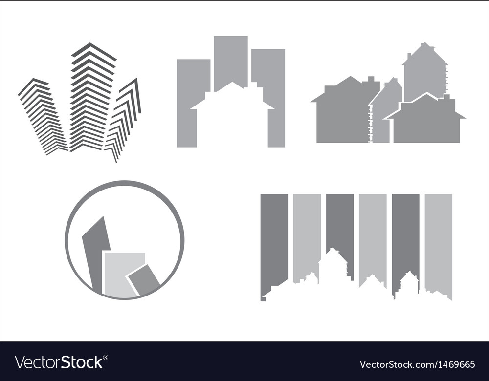 Construction real estate icons vector