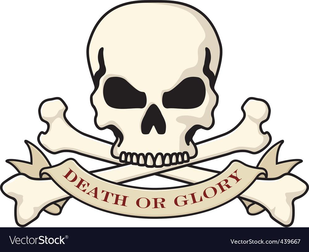 Skull and crossbones emblem vector