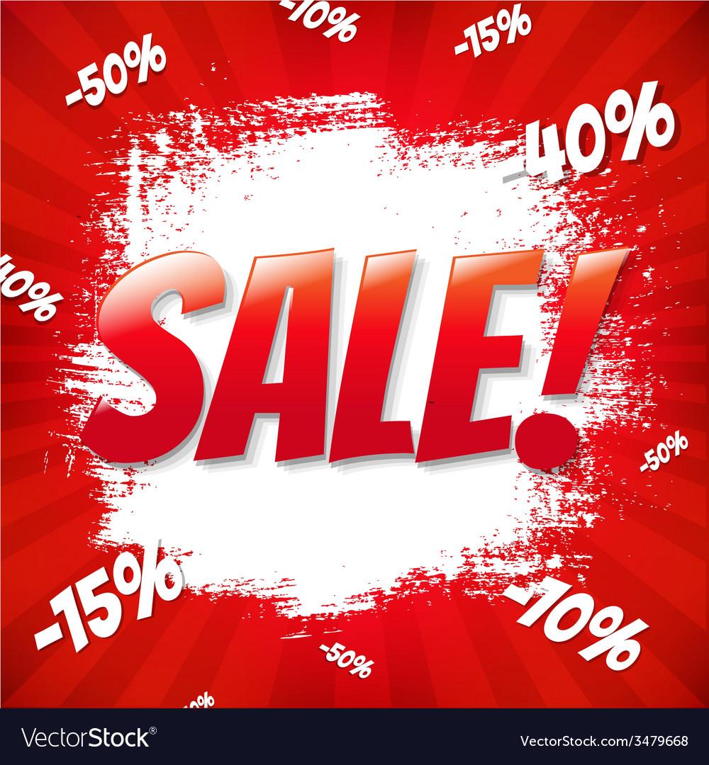Red sale blot vector
