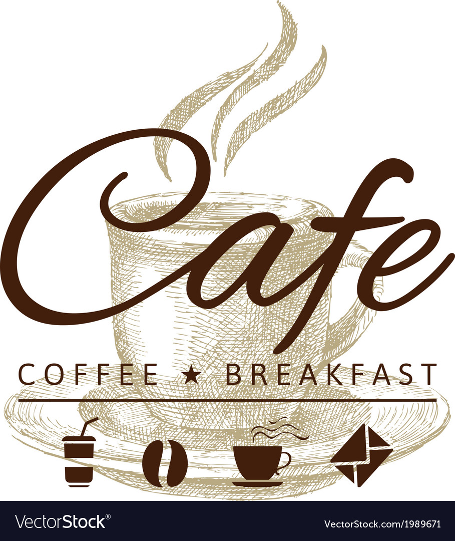 Cafe icon vector
