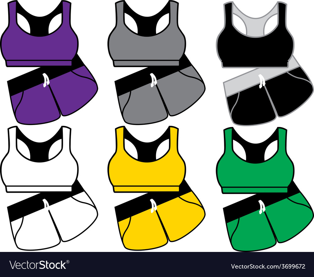 Blank womens sports suit vector
