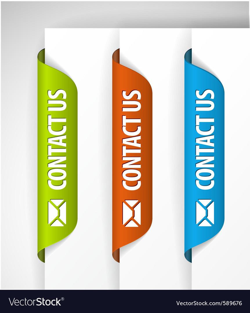 Contact us labels vector