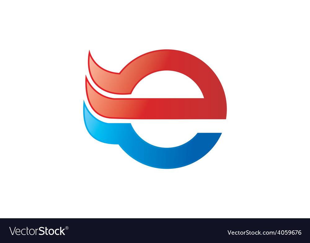 E internet logo vector