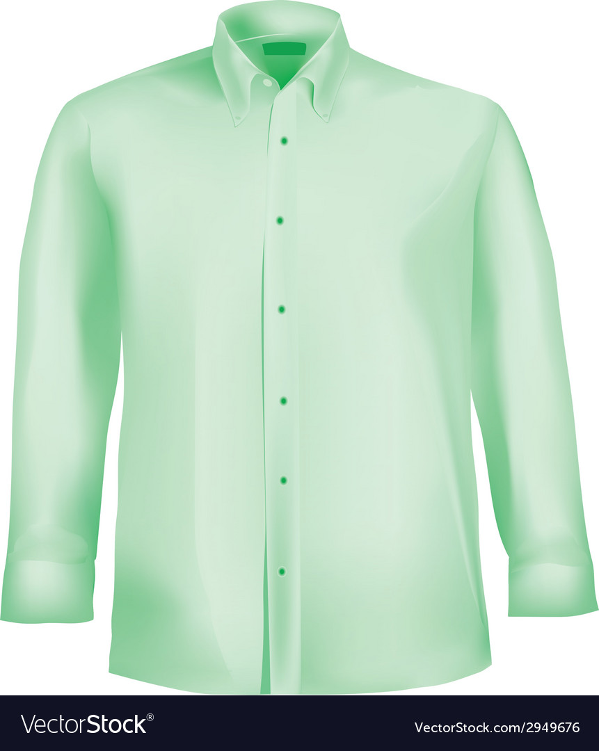 Formal shirt with button down collar vector