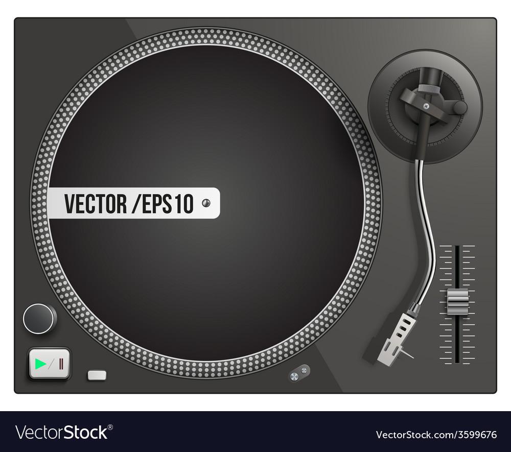 Modern black turntable vector