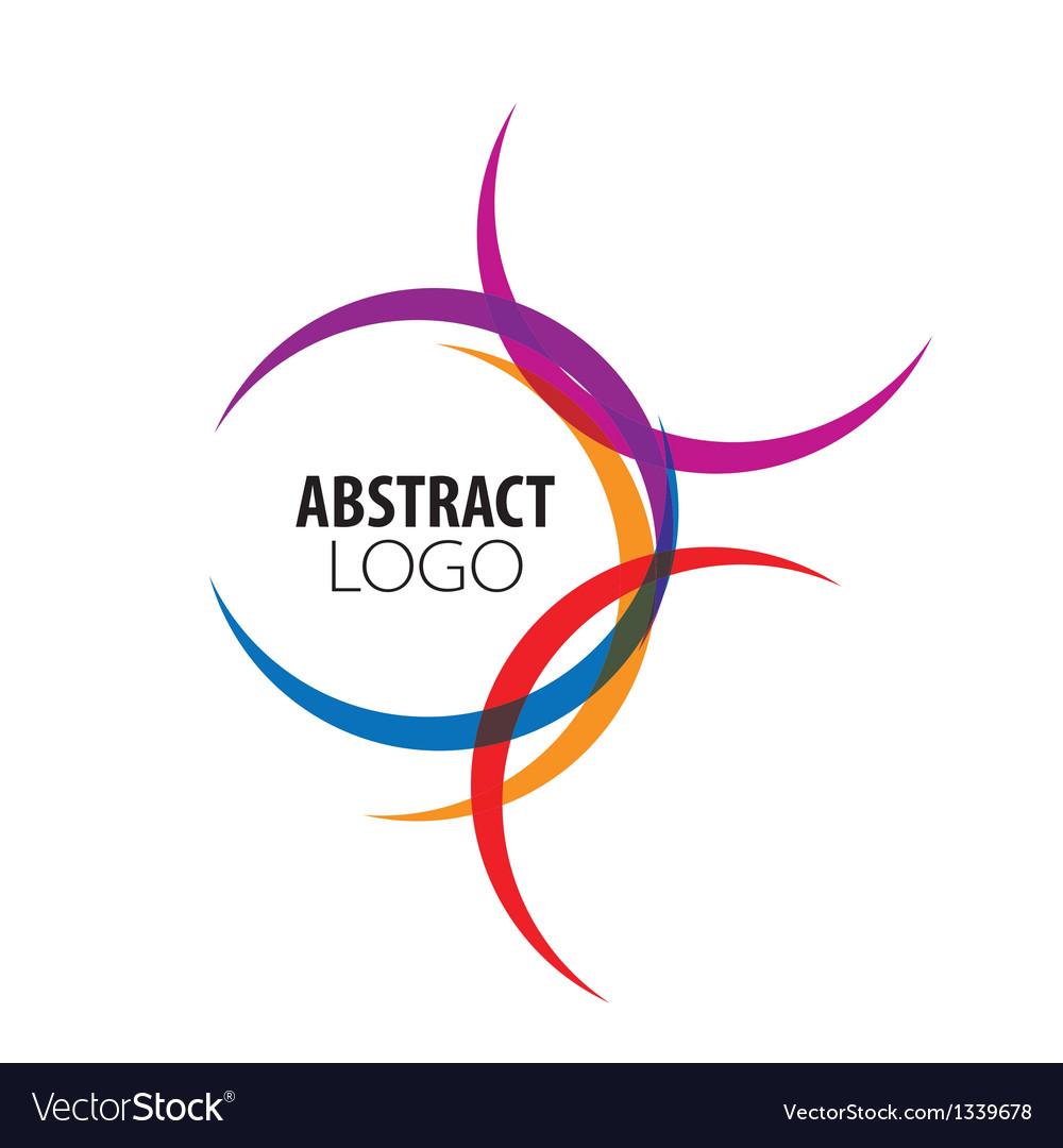 Abstract logo of colored circles vector
