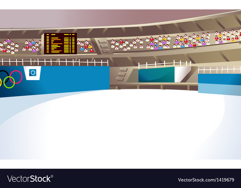Olympics ice stadium vector