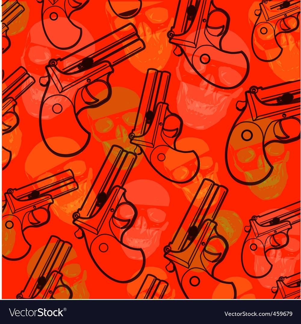 Pistol pattern vector