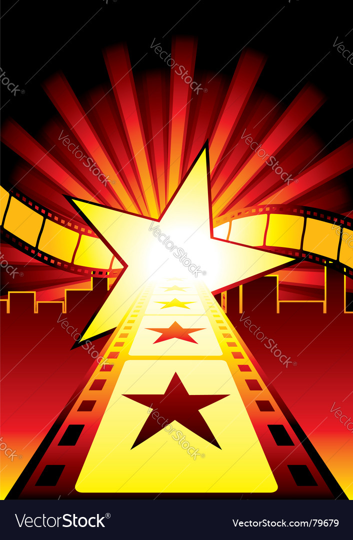 Road to stars vector
