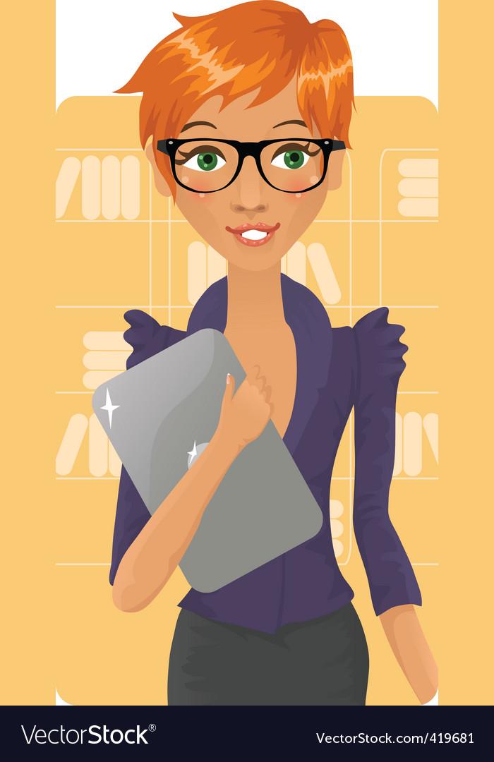 Office girl vector