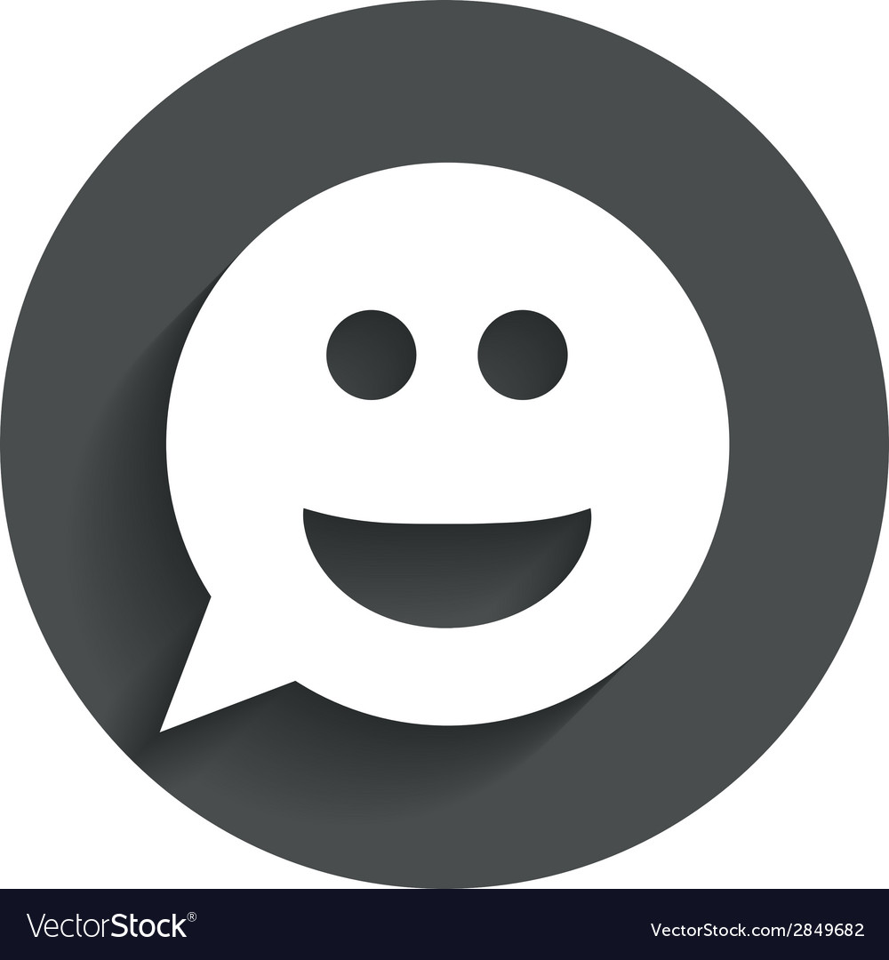 Smile face sign icon smiley symbol vector