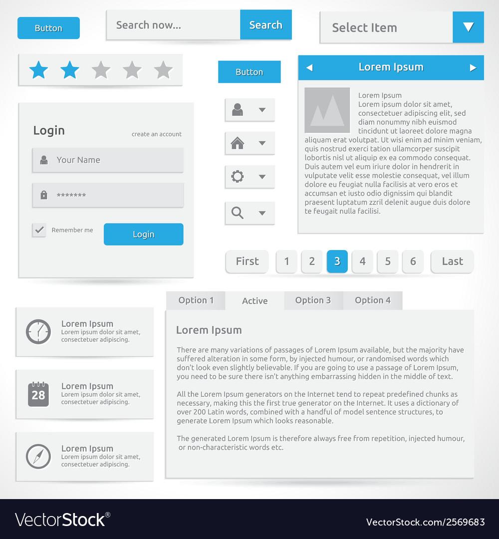 Web elements vector