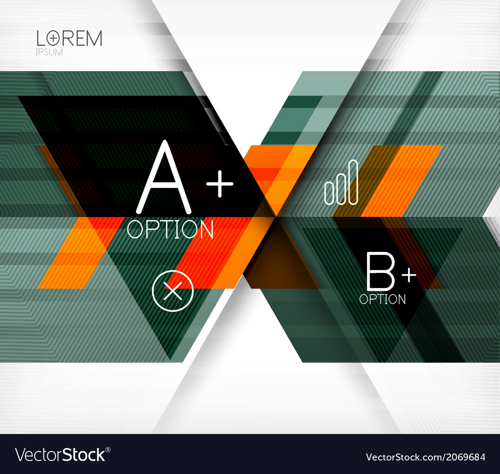 Blocks geometric abstract background vector