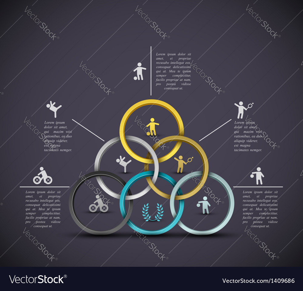 Infographic sport background vector