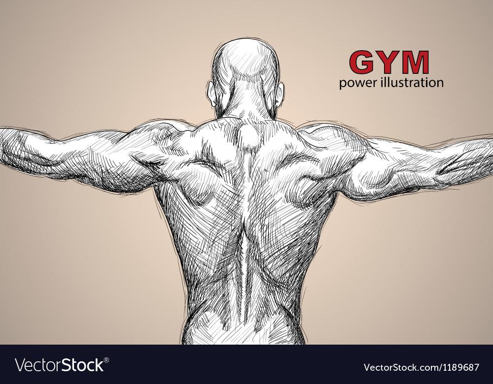 Strong man vector