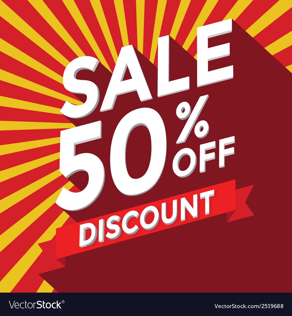 Sale 50 percent off discount vector