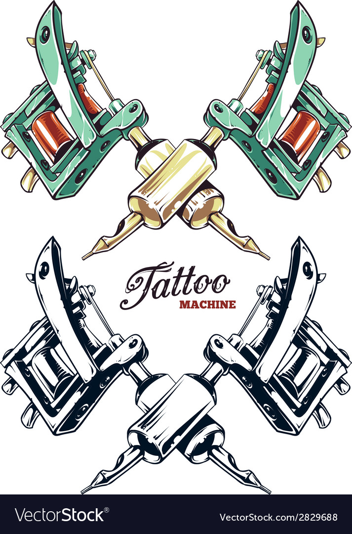 Tattoo machines 2 vector
