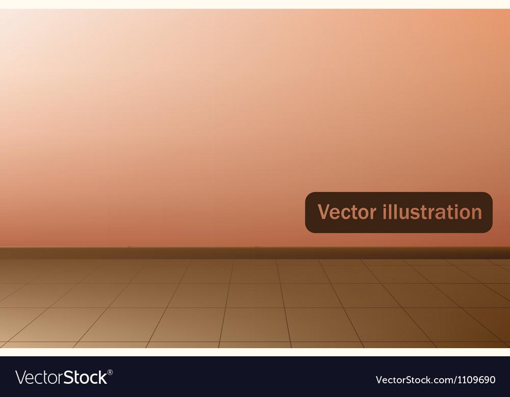 Empty room with a linoleum vector