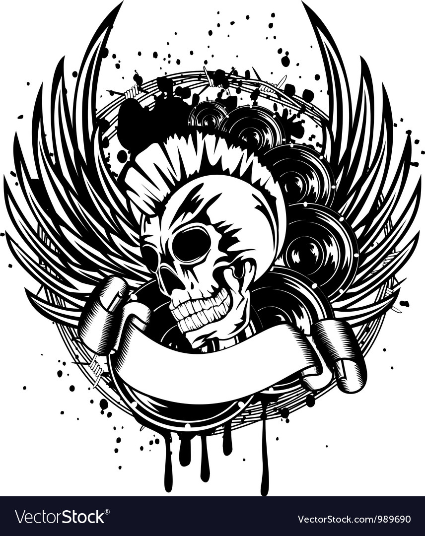 Punk with wings sign vector