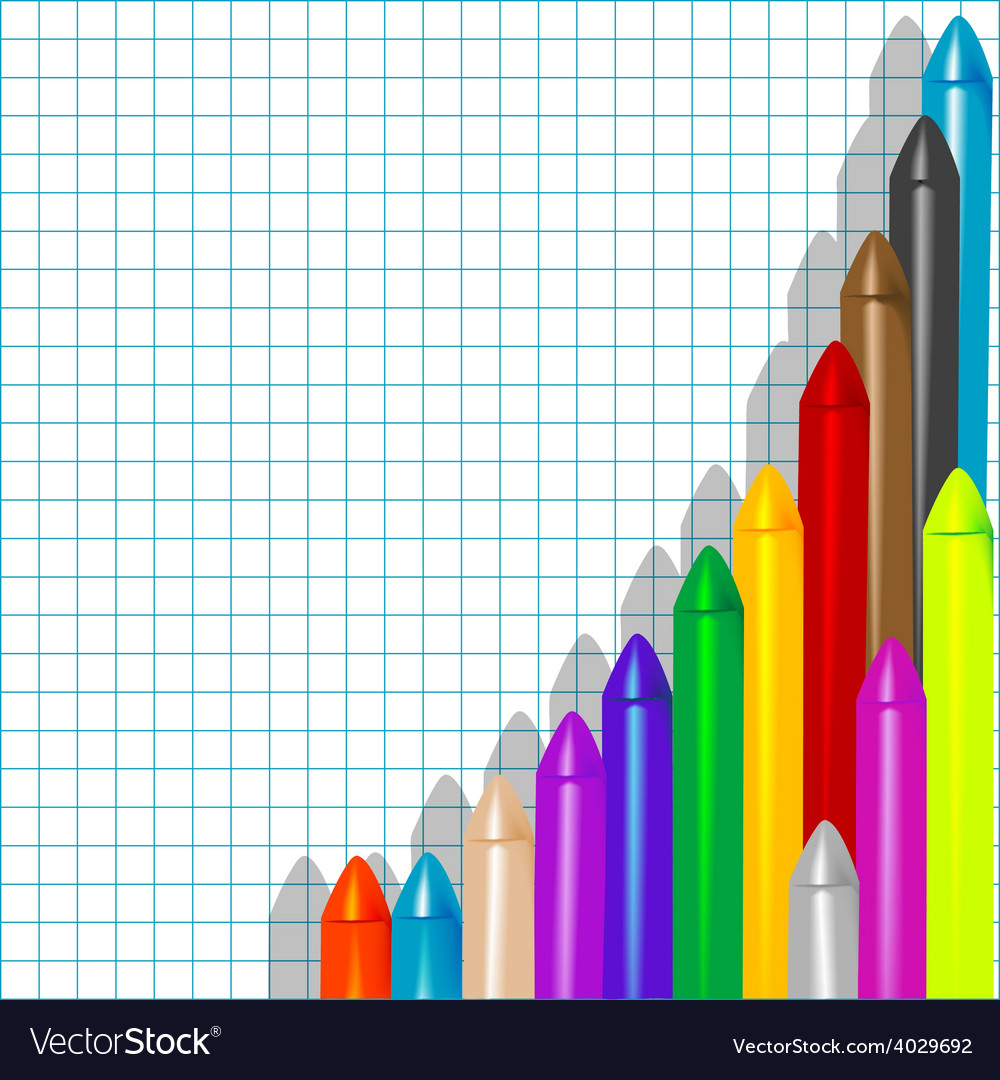 Background with crayons1 vector