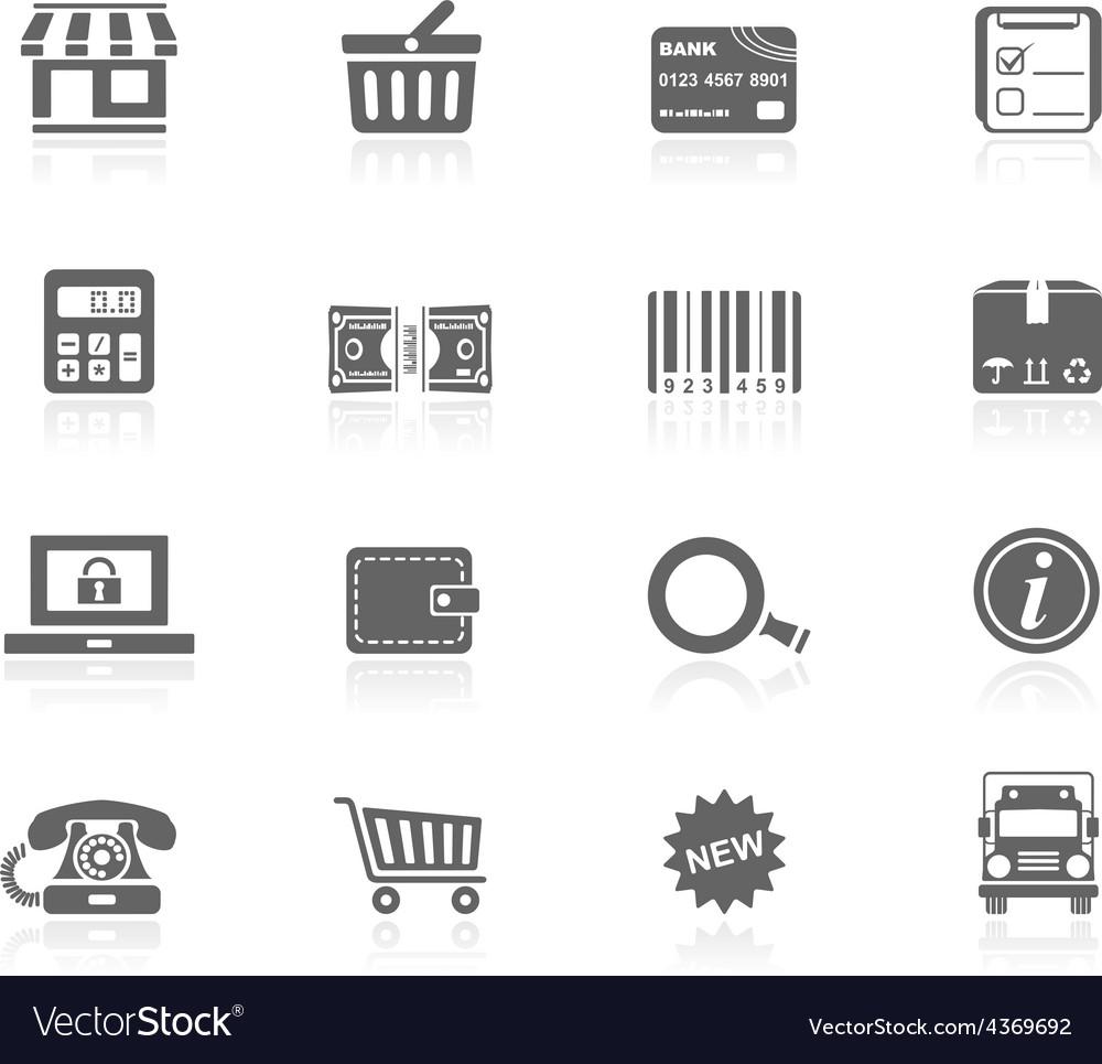 Black icons - shopping vector