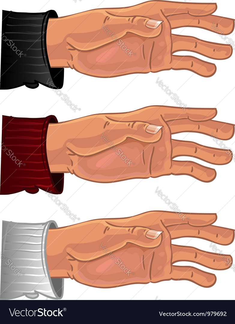 Male hand in color shirt vector