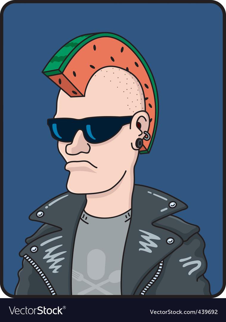 Punk rocker vector