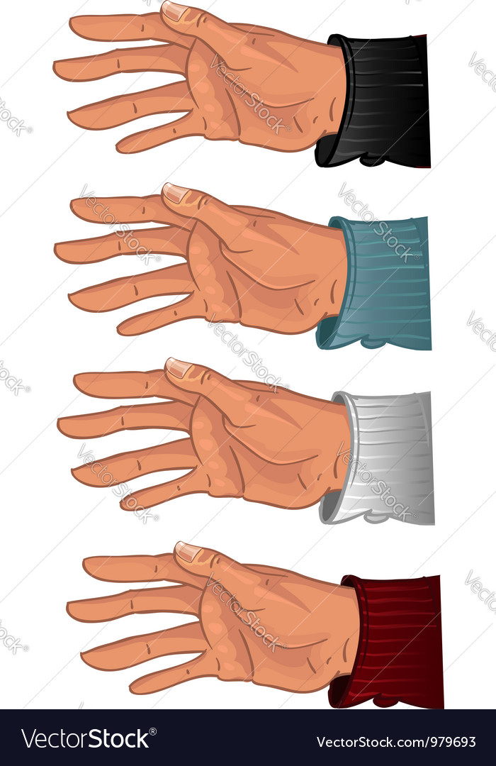 Male hand in some color shirt vector