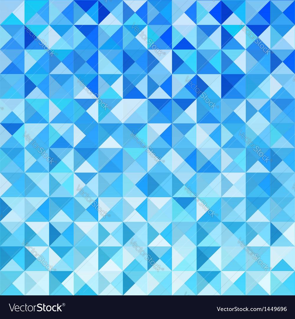 Blue mosaic background wallpaper vector