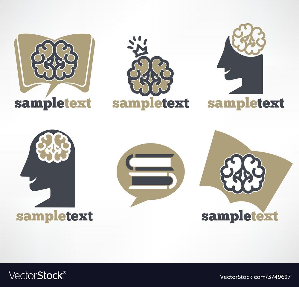 Brain symbols vector