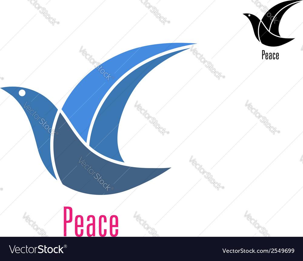 Dove bird as a peace symbol vector