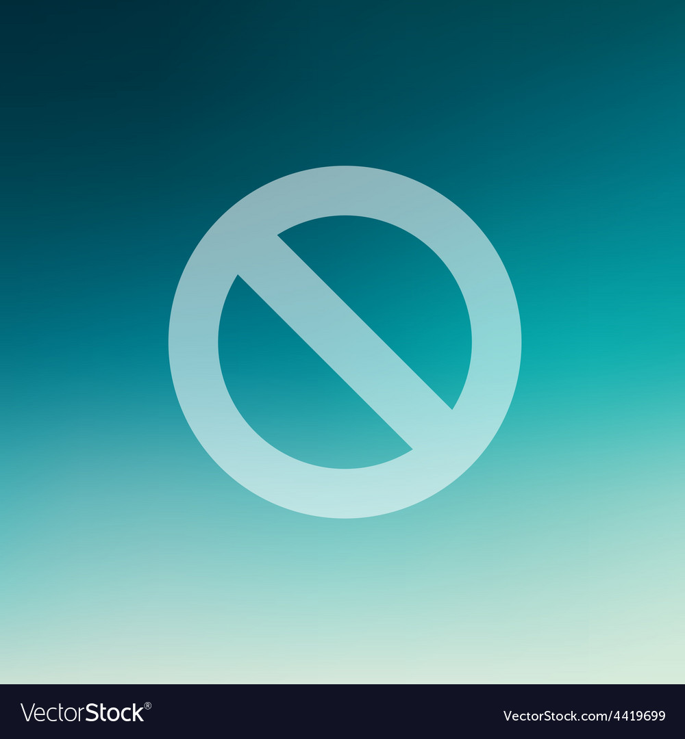 Not allowed in flat style icon vector