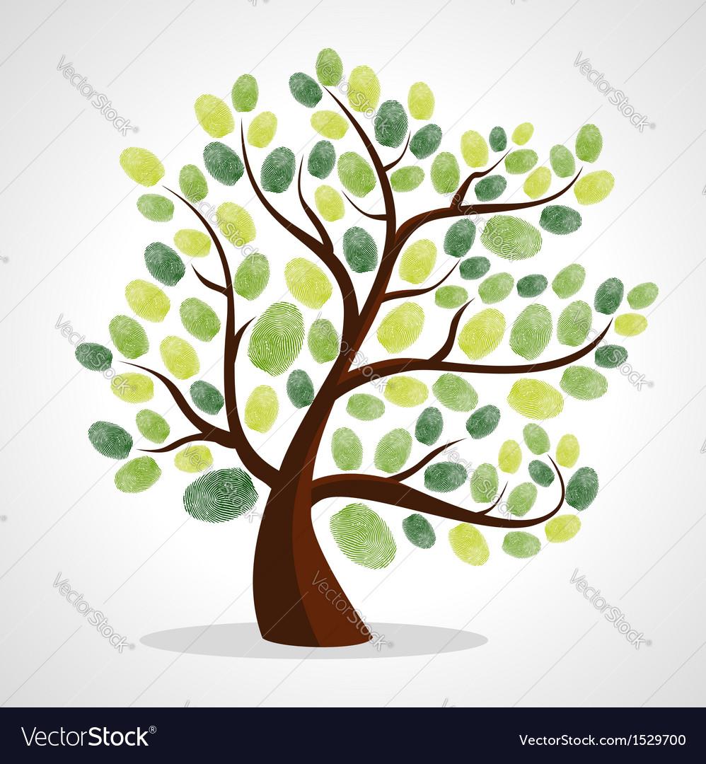 Finger prints tree vector