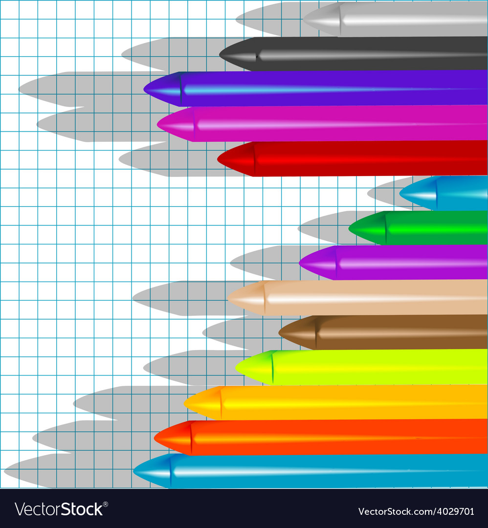 Background with crayons3 vector