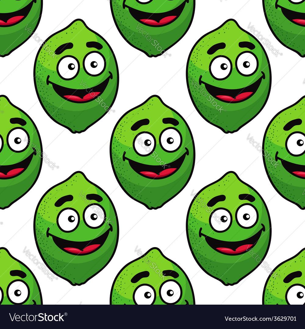 Green avocado fruit seamless pattern vector